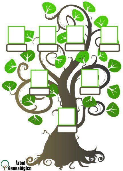 Plantilla de árbol genealógico para rellenar